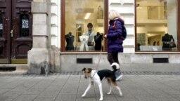 Izlozi prodavnica u Budimpešti tokom pandemije