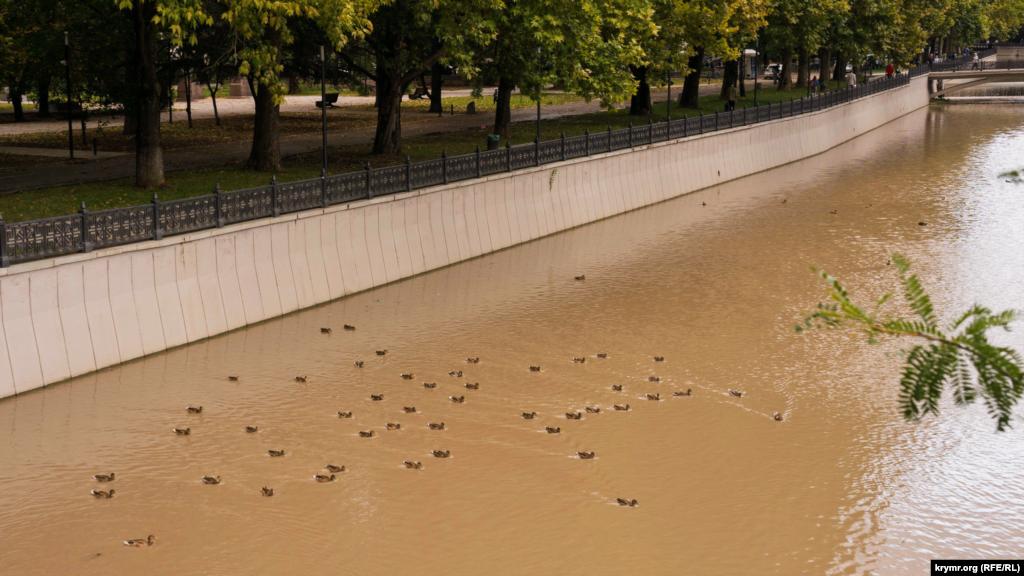 Головна річка Криму після першої вересневого зливи