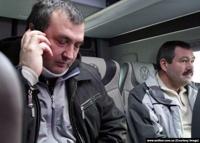 Освобожденные заложники Леонид Мазанько и Виталий Чупринин