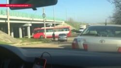 Видео Reuters: прилетевшие из Дамаска наемники едут на базу минобороны РФ