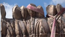 Стена скорби на проспекте Сахарова