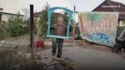 Новосибирский художник построил галерею из соломы
