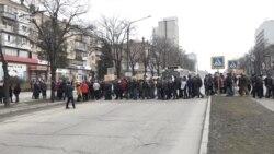 У Запоріжжі протестувальники протягом години блокували центральний проспект (відео)