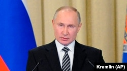 Владимир Путин во время выступления на коллегии ФСБ, Москва, 24 февраля 2021 года