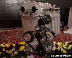 نمونهای از موتور یک لیتری که ایرانخودرو معرفی کرده است