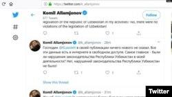 Twitter/Komil Allamjonov