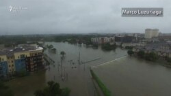 Përmbytjet në Hjuston - pamje nga droni