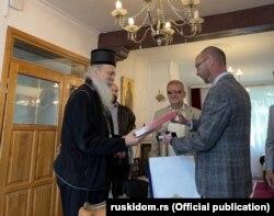 """Vizita në Kosovë e delegacionit të """"Shtëpisë ruse""""."""