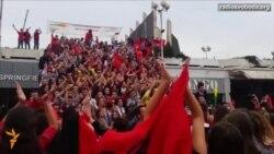 Світ у відео: Молодь Косова вийшла на вулиці підтримати збірну Албанії з футболу