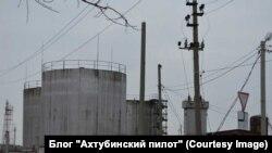 Нефтехранилище на улице Маяковского