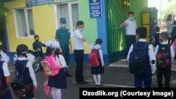 Одна из школ в Узбекистане.