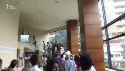 Протестующие сорвали конференцию Кочаряна