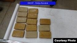 Droguri găsite în depozitul cu alimente din Chiajna, județul Ilfov, 29 iulie 2021.