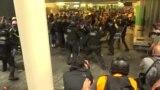 В Барселоне второй день продолжаются протесты из-за приговора каталонским лидерам