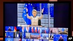 Președinta Comisiei Europene, Ursula von der Leyen, la un summit online