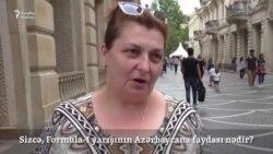 """""""Sizcə, 'Formula-1' yarışlarının Azərbaycana nə faydası var?"""" [video-sorğu]"""