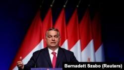 Orbán Viktor miniszterelnök a Világgazdaság Magyarország újraindul című konferenciáján 2021. június 9-én