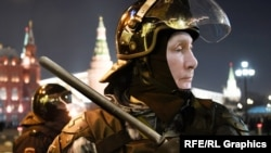 Владимир Путин, коллаж