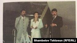 Орзубек Назаров жана Медет Садыркулов. Архив.
