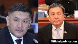 Жогорку Кеңештин депутаттары Төрөбай Зулпукаров менен Асылбек Жээнбеков.