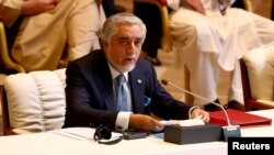 Абдулла Абдулла на церемонии открытия межафганских переговоров, Катар, 12 сентября 2020 года