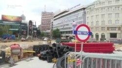 Incidenti tokom blokade gradilišta na Trgu Republike