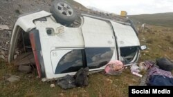 Бишкек-Ўш йўлида Honda Stepwgn ва Volvo тўқнашди.