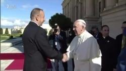 """Roma Papası Bakıda """"Salam əsgər"""" dedi"""