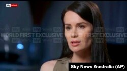Kylie Moore-Gilbert speaks during an interview with broadcaster Sky News on March 9.