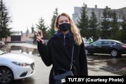 Ольга Хижинкова после освобождения из-под ареста. 20 декабря 2020 года