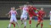 Кыргызстандын футбол боюнча 20 жашка чейинки кыздардын курама командасы тажикстандык атаандаштары менен.