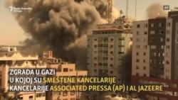 Srušena zgrada u Gazi u kojoj su bili AP i Al Jazeera