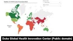 Harta comenzilor pentru vaccinurile Covid, conform datelor din februarie 2020