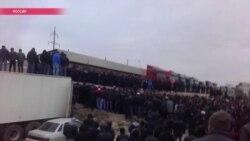 Дагестанская блокада. Силовики и правительство республики устроили информационную изоляцию бастующих дальнобойщиков