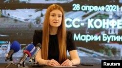 Мария Бутина на пресс-конференции в Кирове. 28 апреля 2021 года