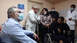 Ֆրանսիացի բժիշկների խումբը Գյումրիում հետազոտել է պատերազմի ժամանակ վիրավորված շուրջ 30 զինծառայողի