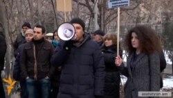 «Ազատություն Գևորգ Սաֆարյանին». բողոքի ակցիա դատախազության դիմաց