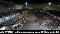 Последствия пожара на птицефабрике под Красноярском