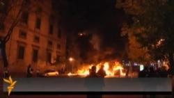Столкновения демонстрантов с полицией в Испании