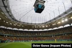 Meciul dintre Austria și Macedonia s-a desfășurat în condiții normale pentru că nu a mai plouat la ora meciului