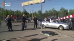 Видео с места массовой драки в Москве