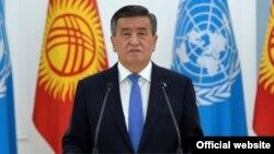 Кыргызстандын президенти Сооронбай Жээнбеков.