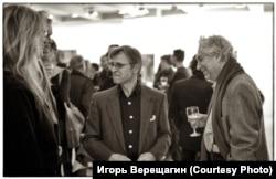 Михаил Барышников (в центре), Эрвин Элиотт (справа), Энни Лейбовиц. Нью-Йорк. 2000-е гг.