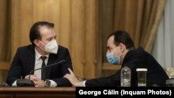 Prim-ministrul Florin Cîțu și șeful său, deocamdată, de la partid, Ludovic Orban