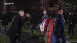 Vučić i Lukašenko položili vence na Groblju oslobodilaca Beograda
