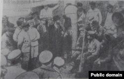 Mihail Gheorghiu Bujor pe un vas românesc sechestrat, Odesa, 1918