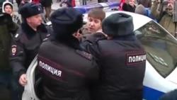 Разгон акции протеста у Центробанка
