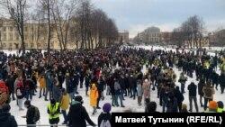 Акция протеста в Петебурге 31 января