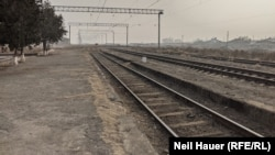 The Yeraskh railway station in southern Armenia, where an old Soviet rail line, abandoned for a generation, is set to run once again.