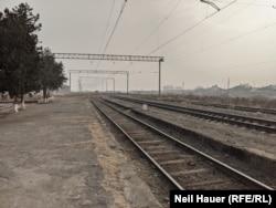 Jeraszk állomás Örményországban déli részén, 2021. januárjában